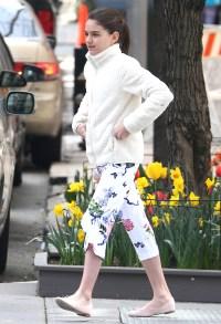 Suri Cruise Wearing White in NYC