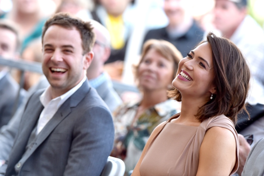 Mandy Moore Laughing With Taylor Goldsmith