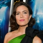 Mandy Moore in a Green Outfit on a Red Carpet