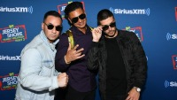 Mike The Situation Sorrentino, Pauly D, and Vinny wearing Sunglasses at an Event