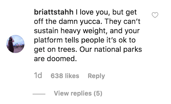 Miley Cyrus Joshua Tree comments
