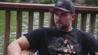 Ryan Edwards Wearing a Black Shirt and Baseball Hat