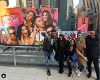 cast of jersey shore takes a picture in nyc