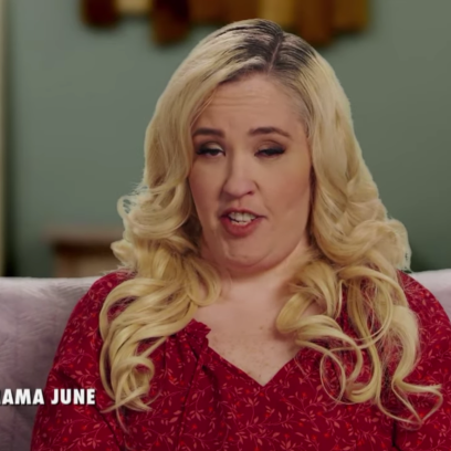 Mama June Wearing a Red Shirt on From Not to Hot TV Show
