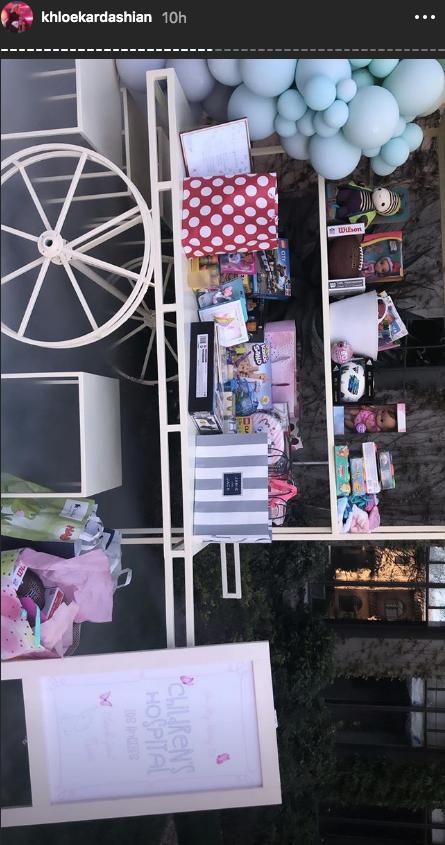 true thompson birthday khloe kardashian instagram gift cart donations