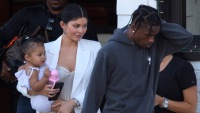 Travis Scott Looks Angry With Kylie Jenner and Stormi