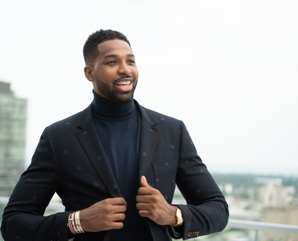 Tristan Thompson Wearing a Suit in Canada
