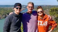 Tyler Baltierra with Dad Butch and Sister Amber