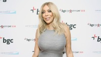 Wendy Williams Wearing a Gray Dress