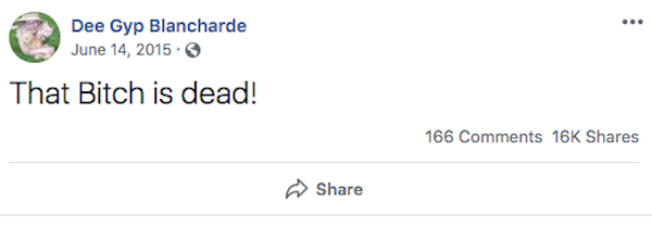 Gypsy Rose Blanchard's Facebook Post About Her Dead Mom Is Still Up