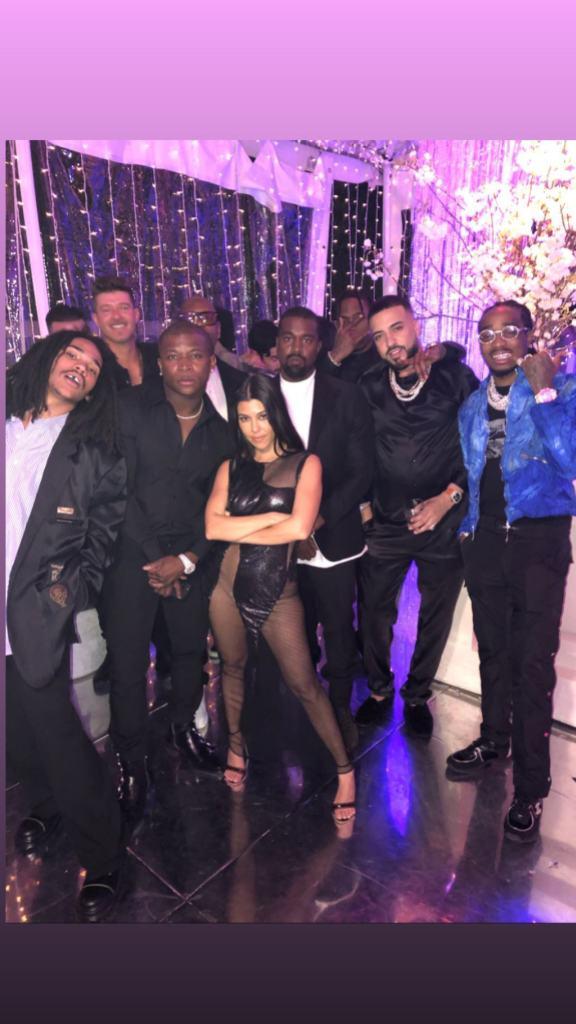 Kourtney Kardashian with a Bunch of Guys at Her birthday Party