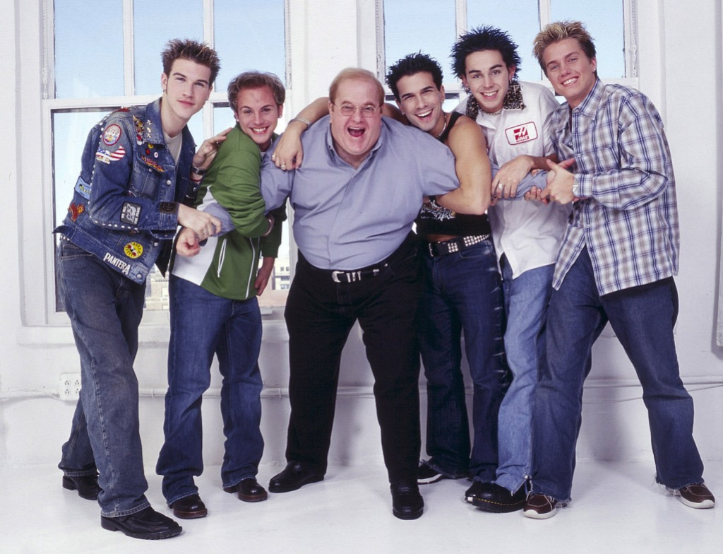 Lou Pearlman with O Town - 2001