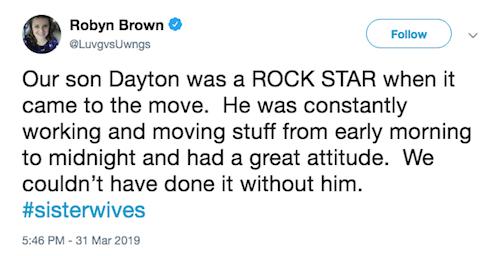 robyn brown tweet