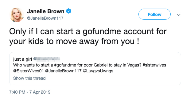 janelle brown tweet