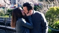 Justin Theroux kisses costar Ilana Glazer on the set of false positive