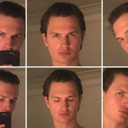 Ansel Elgort Insta Feed Shirtless Selfies