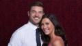 Becca Kufrin Wearing a Pink Dress with Garrett Yrigoyen