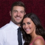 Becca Kufrin Wearing a Pink Dress with Garrett Yrigoyen