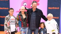 Gwen Stefani Blake Shelton and Their Kids at an Event