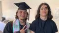 Blanket Jackson With His Brother Prince Jackson Graduating