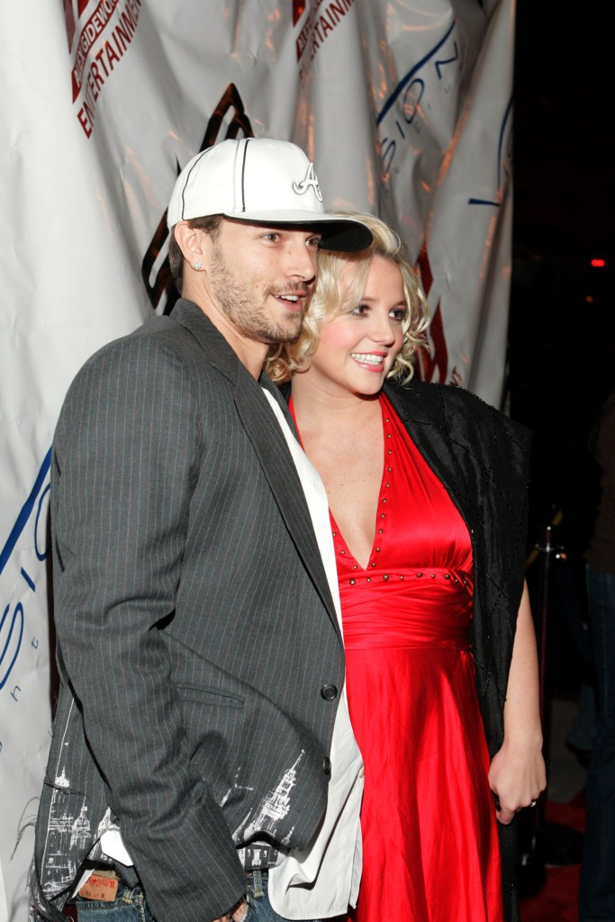 Britney Spears Wearing a Red Dress With Kevin Federline