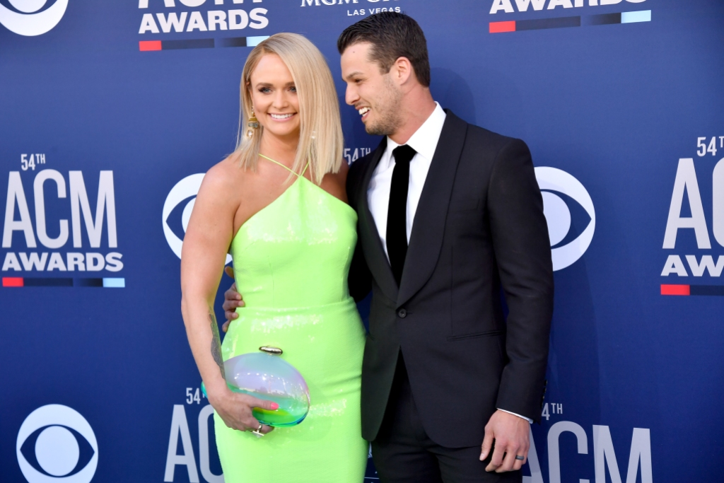 Miranda Lambert Wearing a Green Dress With Her Husband Brendan McLoughlin