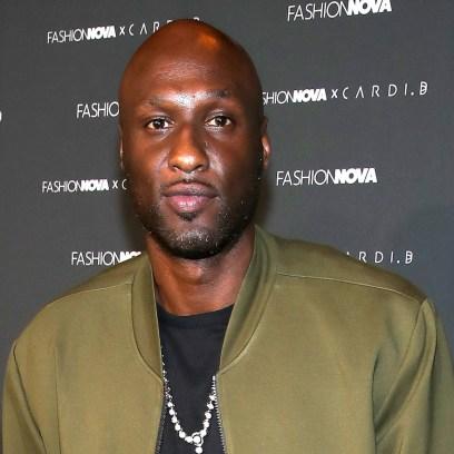 Lamar Odom Wearing a Green Jacket