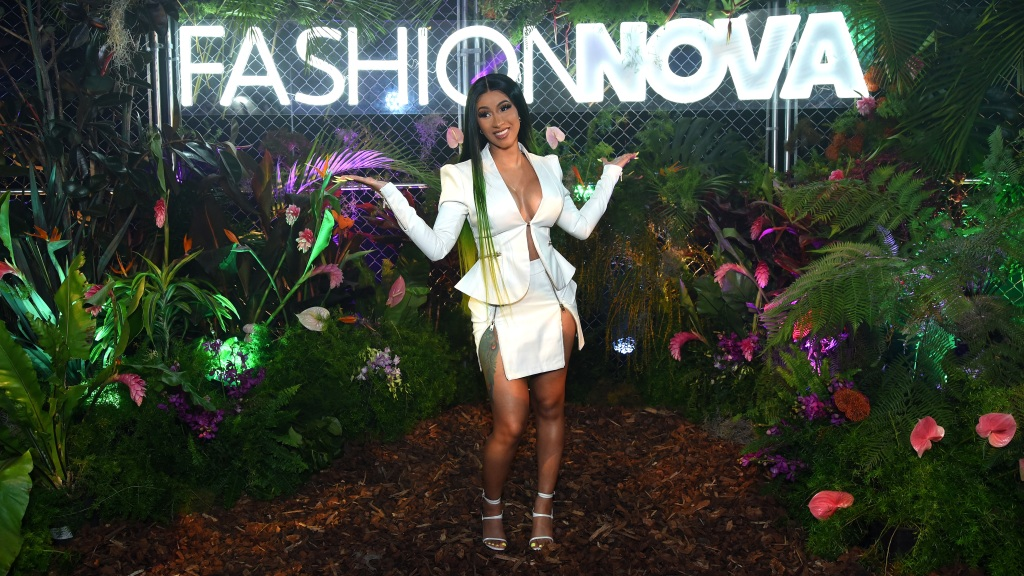 Cardi B Wearing a White Outfit At An Event