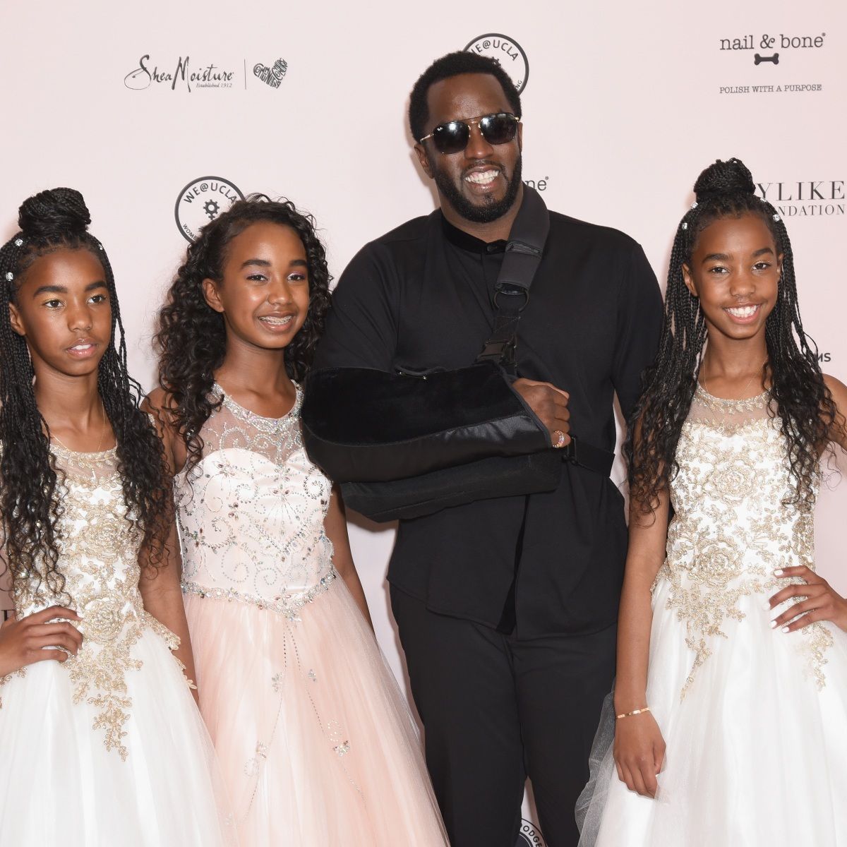 Sean 'Diddy' Combs Steps Out With Daughters Ahead of First Mother's Day Without Kim Porter