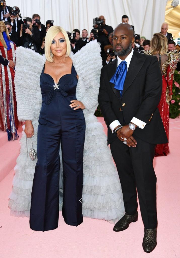 Kris Jenner and Corey Gamble at the 2019 Met Gala
