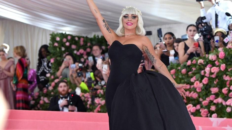 Lady Gaga in a Black Dress at the 2019 Met Gala