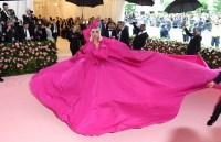 Lady Gaga in a Pink Dress at the Met Gala