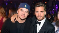 Scott Disick Wearing a Suit With Rob Kardashian Wearing a Hat