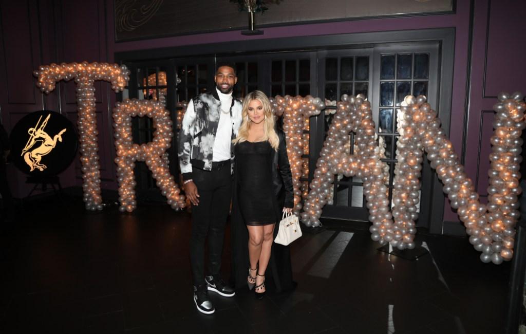 Tristan Thompson With a Pregnant Khloe Kardashian Wearing All Black