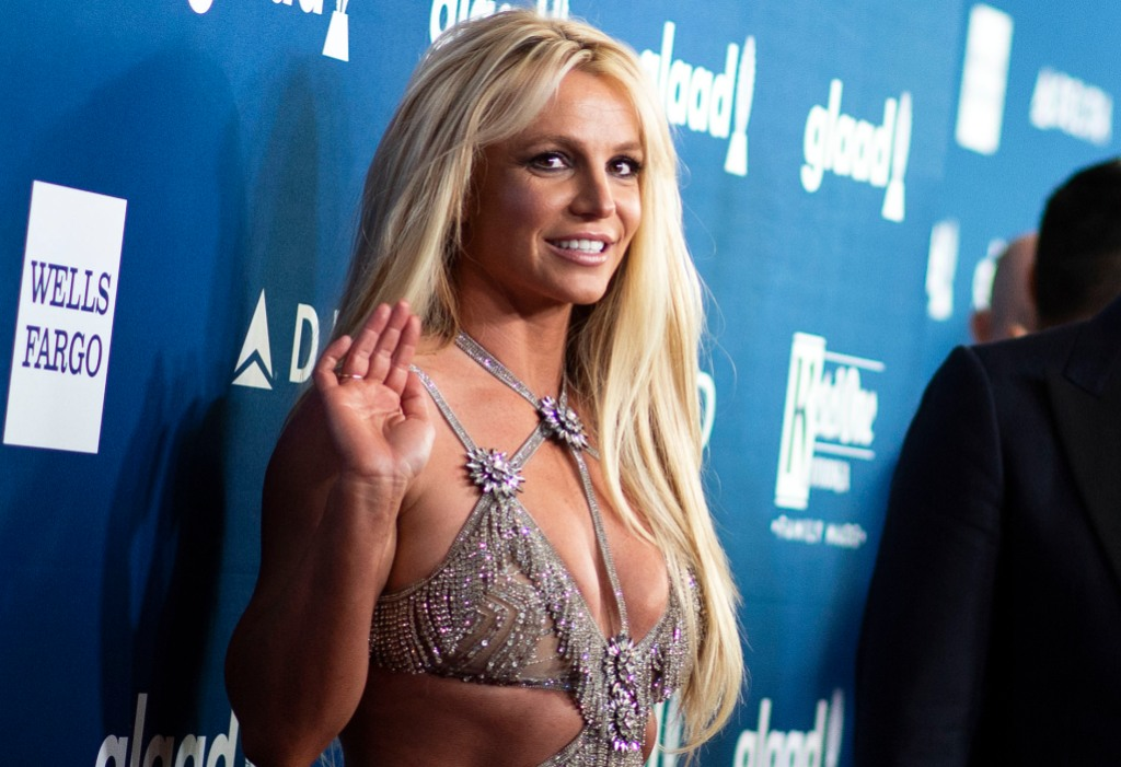 Britney Spears Wearing a Sequin Dress