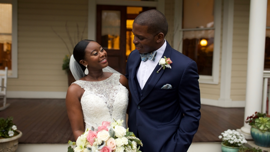 Gregory Okotie and Deonna McNeill on Married at First Sight Season 9