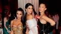Kim Kardashian Kendall Jenner and Bella Hadid at the 2018 Met Gala