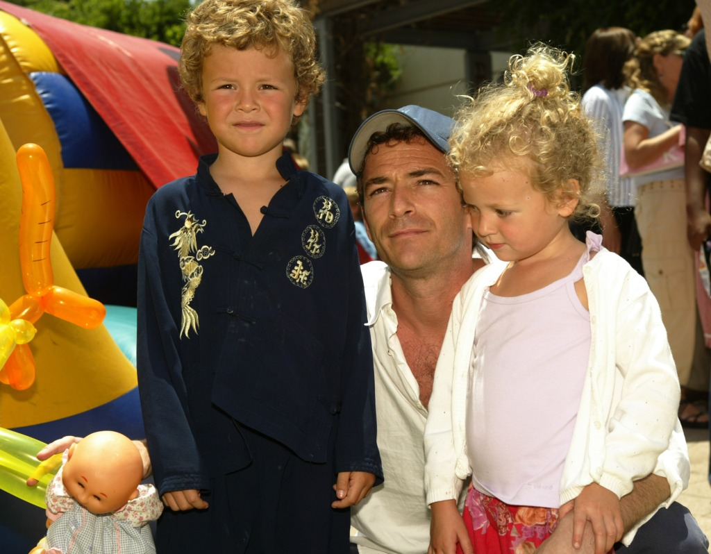 Luke Perry With His Two Kids