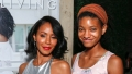 Jada Pinkett Smith in a Silver Dress With Willow Smith in a Headband