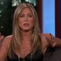 Jennifer Aniston Wearing Black on Jimmy Kimmel