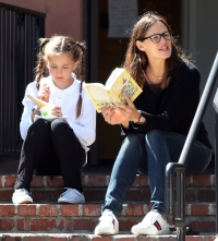 Jennifer Garner Ben Affleck Seraphina Ice Cream