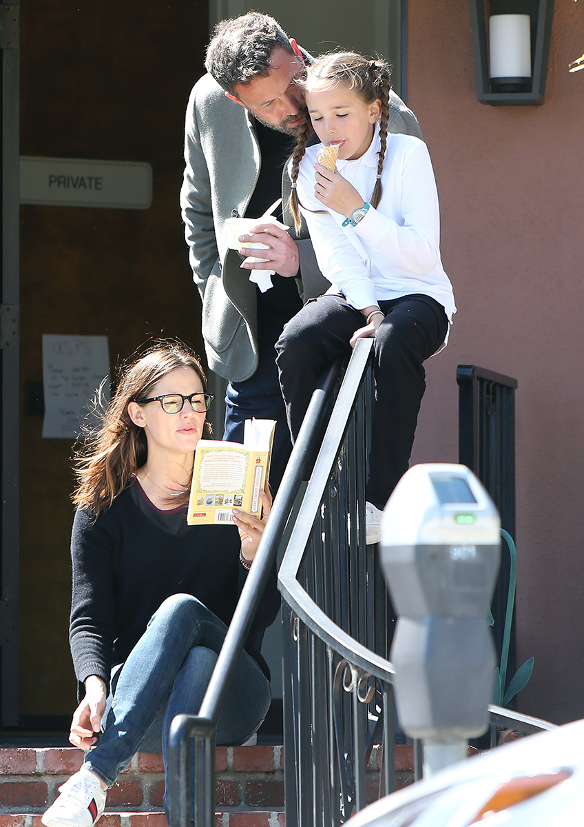 Family Time! Jennifer Garner, Ben Affleck and Daughter Seraphina Soak in the Sun While Eating Ice Cream