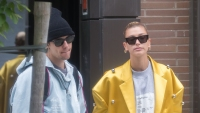Justin Bieber In a Black Hat With Hailey Baldwin in a Yellow Jacket