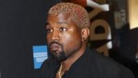 Kanye West Wearing a Black Shirt