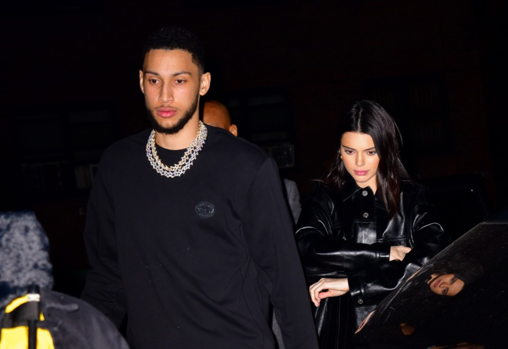 Kendall Jenner Walking With Ben Simmons in All Black