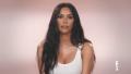 Kim Kardashian Wearing a White Shirt on TV