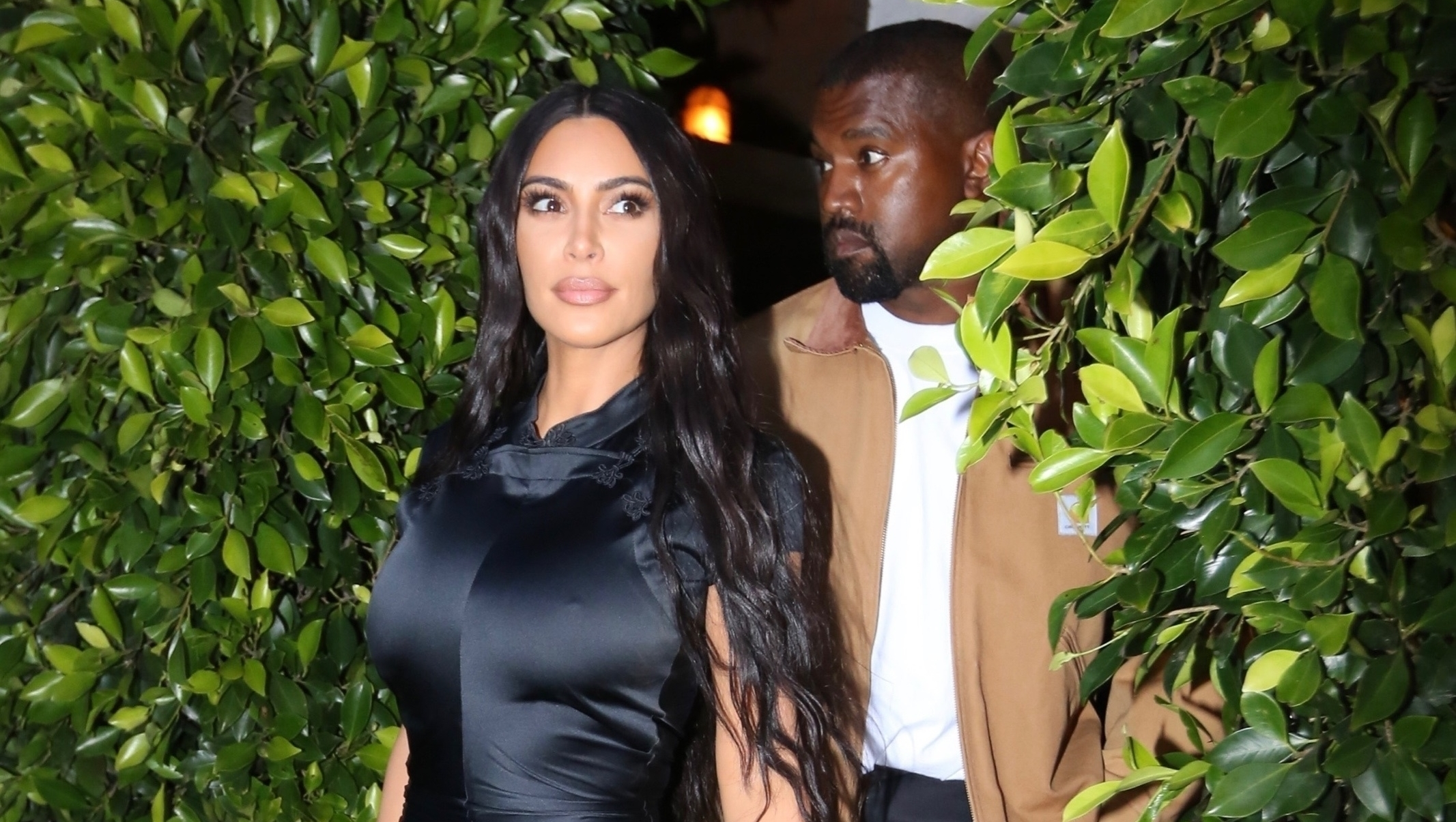 Kim Kardashian and Kanye West go out to dinner at Giorgio Baldi