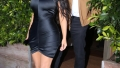 Kim Kardashian and Kanye West go out to dinner at Giorgio Baldi