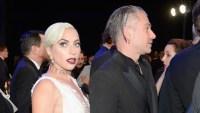 Lady Gaga Wearing a White Dress with Christian Carino