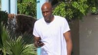 Lamar Odom Walking around LA
